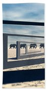 Surreal Elephant Desert Scene Beach Sheet