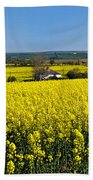 Surrounded By Rapeseed Flowers Beach Towel