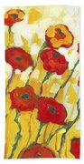 Surrounded In Gold Beach Towel