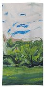 Surrounded With Clouds Beach Towel