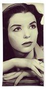 Susan Strasberg, Vintage Actress Beach Towel