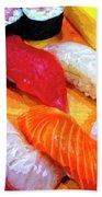 Sushi Plate 4 Beach Towel