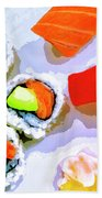 Sushi Plate 6 Beach Towel