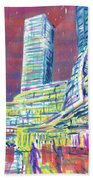 Suzhou Center Mall In The Rain, East Side, Suzhou, China Beach Towel