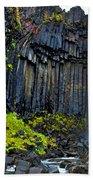 Svartifoss Waterfall - Iceland Beach Towel