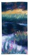 Swamp Flowers Beach Towel