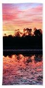 Swamp Sunset Beach Towel