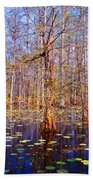 Swamp Tree Beach Towel