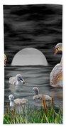 Swan Family Beach Sheet