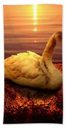 Swan Lake Beach Towel