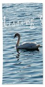 Swan Miss You Beach Towel