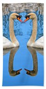Swan Princess Beach Towel
