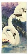 Swan Song Beach Towel
