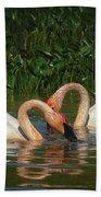 Swans In A Pond  Beach Sheet