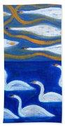 Swans Beach Towel