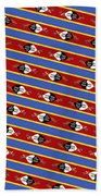Swaziland Flag 3 Beach Towel