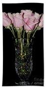 Sweetheart Roses Beach Towel