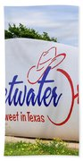 Sweetwater Sign  Beach Towel