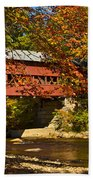 Swift River Covered Bridge In Conway New Hampshire Beach Towel