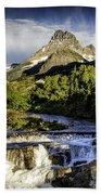 Swiftcurrent Falls Glacier Park 3 Beach Towel