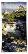 Swiftcurrent Falls Glacier Park 4 Beach Towel