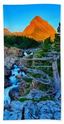 Swiftcurrent Falls Beach Towel