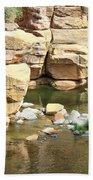 Swimming Hole At Slide Rock Beach Sheet