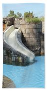 Swimming Pool With Slide For Children Beach Towel