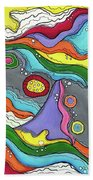 Swimming Upstream Beach Towel