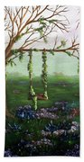 Swingin' With The Flowers Beach Towel