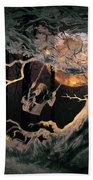 Swinging Through The Forest By Moonlight Beach Towel