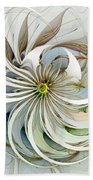 Swirling Petals Beach Towel