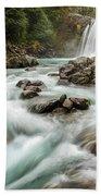 Swirling Waters - Tawhai Falls Beach Towel