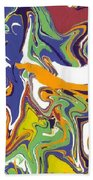Swirls Drip Art Beach Towel