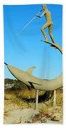 Swordfish Harpooner Beach Towel