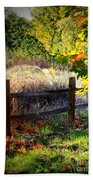 Sycamore Grove Fence 1 Beach Towel