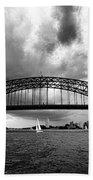 Sydney Harbor Bridge Black And White V2 Beach Towel