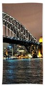 Sydney Harbor Bridge Night View Beach Towel
