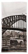 Sydney Harbor Bridge Platinum Beach Towel