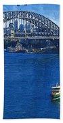 Sydney Harbor Bridge Beach Towel