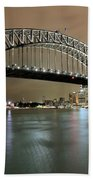 Sydney Harbour At Night Beach Towel