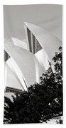 Sydney Opera House Black And White Beach Towel