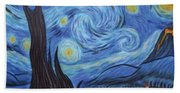 Syfy- Starry Night In Mordor Beach Sheet