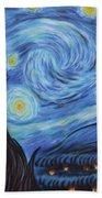 Syfy- Starry Night In Mordor Beach Towel