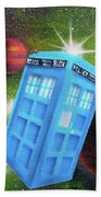 Syfy- Tardis 3 Beach Towel