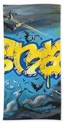 Sykotik And Pystoff Batman Beach Towel