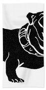 Symbol: Bulldog Beach Towel