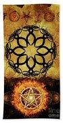 Symbols Of The Occult Beach Towel