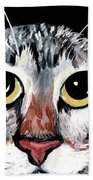 Tabby Eyes Beach Towel