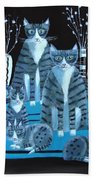 Tabby Family Beach Towel